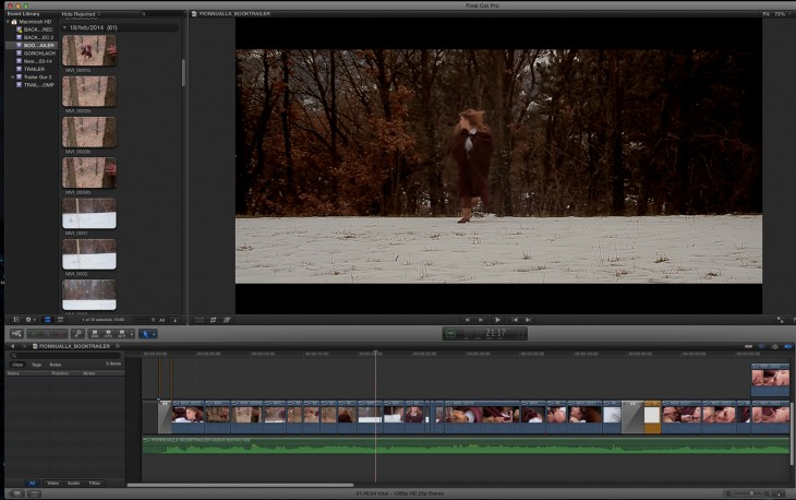"""Screenshot from the editing of """"Fionnualla 